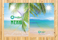 Меню для ресторана SunReef, г. Сочи
